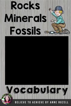 This is a set of vocabulary cards with words and definitions about Rocks, Minerals, and Fossils to display in your classroom. This set has 12 cards! This set is a wonderful addition to your lessons! Vocabulary Cards, Rocks And Minerals, Fossils, Definitions, Curriculum, Classroom, Resume Cv, Teaching Plan, Fossil