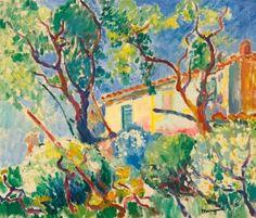 The Home of Signac, 'Les Cigales', Saint-Tropez Henri Manguin - 1904 Art Fauvisme, Fauvism Art, Piet Mondrian, Henri Matisse, Landscape Art, Landscape Paintings, Art Français, Raoul Dufy, Saint Tropez