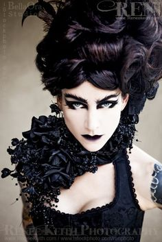 Exotic Neo-Victorian #Goth girl by Renee Keith Photography