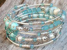 20.Memory Bracelet gypsy style. Metal glass by LesbebellesaLucie