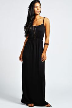 Zoe Strappy Maxi Dress at boohoo.com