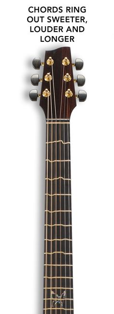 True Temperament Formula 1 neck and an Evertune bridge, making it the first production guitar in the world with 100% perfect intonation and a guitar that never goes out of tune