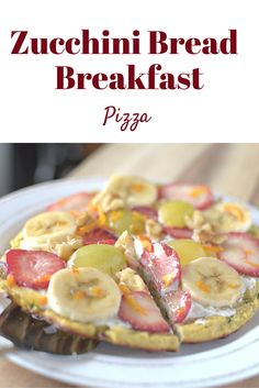#healthy Zucchini Bread Breakfast Pizza. This is a life-chaning breakfast! This can be #vegan and #paleo #glutenfree