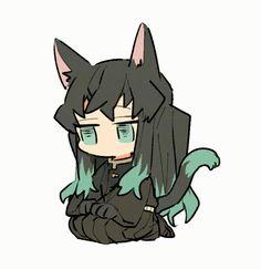 Read Kimetsu No Yaiba / Demon slayer full Manga chapters in English online! Dibujos Anime Chibi, Cute Anime Chibi, Anime Kawaii, Anime Angel, Anime Demon, Slayer Meme, Demon Slayer, Manga Anime, Anime Art