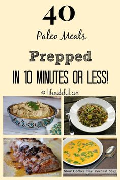 40 paleo meals prepped in 10 minutes