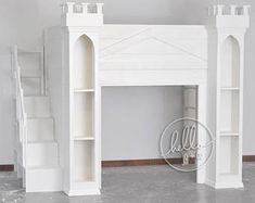Items similar to Twin Castle Playhouse Bed on Etsy Playhouse Loft Bed, Castle Playhouse, Solid Wood Furniture, Custom Furniture, Kid Beds, Bunk Beds, Trundle Bed With Storage, Crib Mattress, Reading Nook