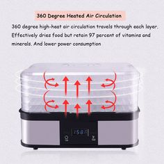 CHEFJOY 5Tray Food Dehydrator Preserver Fruit Vegetable Dryer Timer Temperature Control * Continue to the product at the image link.(It is Amazon affiliate link) #HomeAppliancesCollection