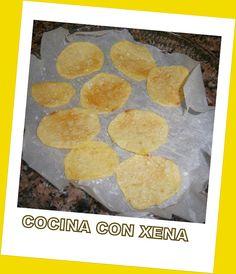 Patatas Chips en microondas sin gota de aceite. Riquísimas Patatas Chips, Tapas, Muffin, Breakfast, Food, Salads, Recipes With Potatoes, Homemade Food, Snacks