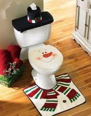 Christmas Snowman Toilet Decor | #christmas #xmas #holiday #decorating #decor