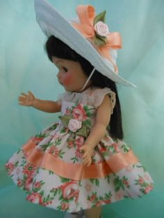 Dress and hat for Ginny or Muffy dolls.
