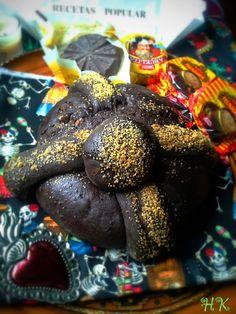 Pan de muerto de chocolate