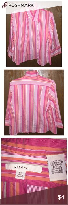 Women's Top Brand new without tags, never wore and does not have any flaws at all. Merona Tops Button Down Shirts