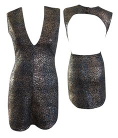 Plunge Neckline Bodycon Sparkle Dress #shoppitaya