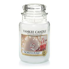North Pole™ : Large Jar Candles : Yankee Candle : What holiday dreams are made of . . . a sweet blend of icy cool mint and sugary rich vanilla cream.