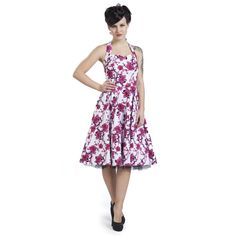 """Vestito """"Pink Floral Dress"""" del brad #H&RLondon con allacciatura dietro il collo e stampa allover. Avvitato e con gonna a ruota. Pink Floral Dress, Mi Long, Costumes, London, Summer Dresses, Vintage, Fashion, Dress Ideas, White People"""