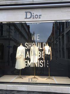 Dior SS17 - #diorevolution #visualmerchandising #windowdisplay #balcandwhite #strong #striking #inspirational #weshouldallbefeminists