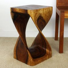 12 inches Square x 20-inch Wooden Hand-carved Walnut Oil Twist Stool (Thailand) | Overstock.com Shopping - The Best Deals on Coffee, Sofa & End Tables