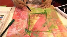 Mixed media fabric dyeing with good video