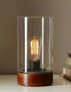 Bubble glass hurricane lamp