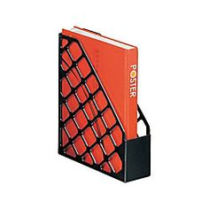 office depot magazine rack. Office Depot Brand 30percent Recycled Mesh Plastic Magazine File Standard Black By Rack