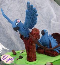 Rio Cake -- love the birds Elmo, Rio Cake, Rio Party, Rio Movie, Movie Cakes, Best Cake Ever, 3d Figures, 9th Birthday Parties, Animal Cakes