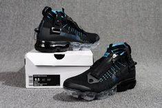 Nike Air Vapormax Flyknit Zipper Blue Black Men's Running Shoes Nike Air Vapormax, Mens Nike Air, Jordans For Men, Air Jordans, Running Shoes For Men, Air Max Sneakers, Shoes Sneakers, Reebok, Dope Music