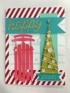 Stampin' Up! demonstrator Candi R's project showing a fun alternate use for the Watercolor Winter Simply Created Card Kit.
