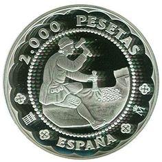 2000 Pesetas 2001 Casa de la moneda de Segovia. Plata.