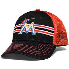 New Era Miami Marlins Preschool Black/Orange Frontband 9FORTY Snapback Adjustable Hat