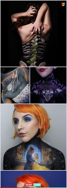 Using Her Own Body as Canvas This Makeup Artist Creates Something Amazing #bodyart #artist #artistofinstagram #makeup #georginaryland