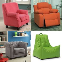 Looking for a fun chair for your kid's room? How about one of these?!   #KidsBedroomFurniture #ColorfulChairs #Chairs