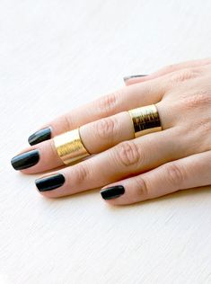 Add some edge to your look with a knuckle ring.