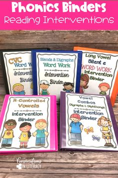 Phonics Word Work Binders-Phonics decoding activities and ideas for guided reading and reading interventions that build fluency! Increase learning during small groups with fun practice for kids. Teachers use these phonics activities to build up from word level to fluency with reading passages.  Great for struggling readers too! #kindergarten #firstgrade #secondgrade #thirdgrade #conversationsinliteracy #phonics #fluency #comprehension #classroom #elementary #decoding #readinginterventions…