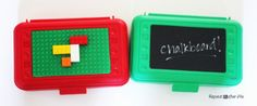 DIY Lego and Art Travel Boxes - cute gift idea for kiddos