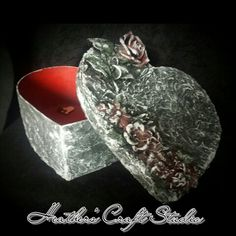 Mixed Media Art - Altered Box by Heather's Craft Studio