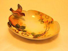 Antique nippon figural bird bowl
