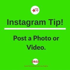 Instagram Tip: Post a photo or Video To post a photo or video simply tap on the camera icon in the middle of the bottom menu of the app. You can then either take a photo record a video or choose one from your gallery. Once you choose the photo you want click Next. From there youll be able to apply filters and adjust the photo in other ways like cropping quickly change the exposure (Lux) add vignette etc. With videos you can edit the clip length which now allows upto 60 secs!! Or you can…