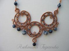 Примеры. Кулоны, колье, ожерелье. Wire wrap. | 614 фотографій