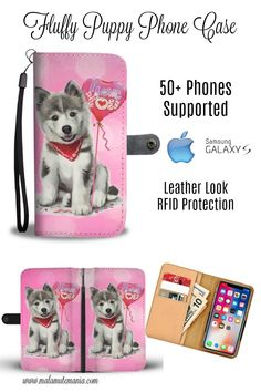 He's cute and fluffy and ready to protect your mobile cell phone. Such a cute face, how could you resist? 50+ phones supported in an easy to use protective cover. Choose from our range of designs at Malamute Mania. #phonecase #iphone #samsung #nokia #malamute #husky #wolf #wolves #dog #dogs #dogsofinstagram