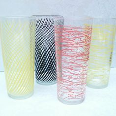 Lemonade Glasses   Vintage Glassware /  Atomic by WhimzyThyme, $29.00