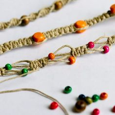 I love making friendship bracelets, whether they are done with macrame, braiding, or something else. This first tutorial is a bracelet I made with ...
