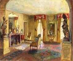 Salon of the Chateau du Breau (Walter Gay)