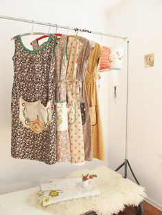 dottie angel aprons, love the colors