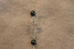 Rhinestone Cross Bracelet by NelliesTrinkets on Etsy, $13.00