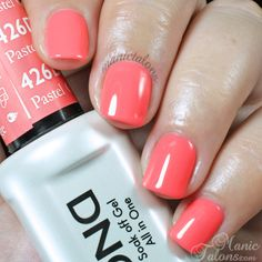 NEW FORMULA! Daisy Soak Off Gel Nail Color: Pastel Orange 1426. Bright coral orange. Size 0.5 oz/15ml. LIMITED PROMOTION: FREE MATCHING NAIL POLISH IN A PACK! About the NEW Daisy Soak Off Gel Polish :