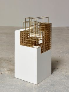 """Carol Bove  Terma  2013  Medium  Brass and painted medium-density fiberboard  Dimensions  30 x 12 x 12"""" (38.1 x 30.5 x 30.5 cm)  Credit  Gift of The Jill and Peter Kraus Endowed Fund for Contemporary Acquisitions, Michael Ovitz, Marlene Hess and James D. Zirin, Marie-Josée and Henry Kravis, and the Speyer Family Foundation  Object number  732.2013"""