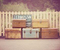 Vintage trunks!