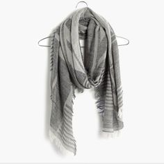 23f84b0dc4b Madewell Gray Blockweave Scarf Fall Scarves