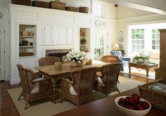 TG interiors I love the casual feel of this eating area and the sunroom beyond