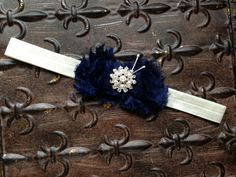 Hey, I found this really awesome Etsy listing at https://www.etsy.com/listing/150430481/navy-blue-flower-girl-headband-navy $7.00